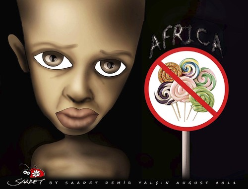 Cartoon: Candy (medium) by saadet demir yalcin tagged child,africa,candy,sdy,saadet