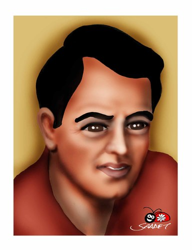 Cartoon: rock hudson (medium) by saadet demir yalcin tagged rhudson,syalcin