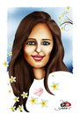 Cartoon: Nicoleta.... (small) by saadet demir yalcin tagged syalcin,nicoleta,romania,turkey,friendship