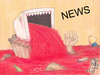 Cartoon: NEWS (small) by T-BOY tagged news