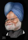 Cartoon: Manmohan Singh (small) by geomateo tagged prime minister politics manmohan singh india
