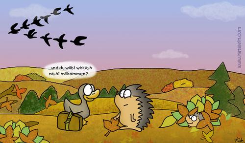 Ab In Den Süden Von Katelein Natur Cartoon Toonpool