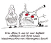Cartoon: Hieronymus Bosch (small) by Nick Blitzgarden tagged hieronymus,bosch,waschmaschine,qualität,zufriedenheit,oma,nick,blitzgarden,cartoon