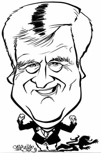 Cartoon: Horst Seehofer (medium) by stieglitz tagged horst,seehofer,karikatur,caricature,caricatura
