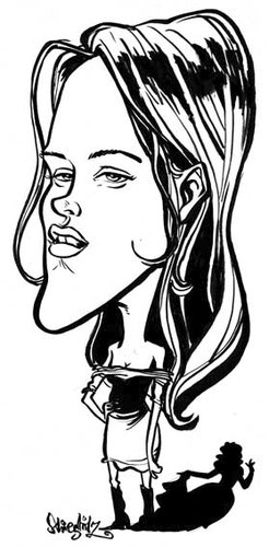 Cartoon: Kristen Stewart (medium) by stieglitz tagged kristen,stewart,karikatur,caricature