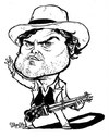 Cartoon: Jack Black (small) by stieglitz tagged jack,black,karikatur,caricature,house,of,rock,tenecious