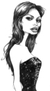 Cartoon: angelina (small) by michaelscholl tagged angelina,jolie,cartoon,sketch