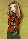 Cartoon: bundled up (small) by michaelscholl tagged sweater,chilled,chilly,scarf,woman