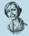 Cartoon: mici (small) by michaelscholl tagged woman,cartoon,portrait