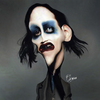 Cartoon: marilyn manson (small) by Quidebie tagged marilyn,manson,caricature,karikatuur,funny,fun,singer,zanger,lady,gaga,album,music,muziek,brian,hugh,warner