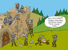 Cartoon: Burgspiele (small) by Wolfgang tagged burg,ritter,angriff,spiele,steine