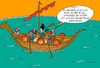 Cartoon: Wortwitz No  47853 (small) by Wolfgang tagged wortwitz,wikinger,schiff,drachenboot,banküberfall