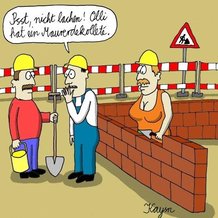 Bauarbeiter bei der arbeit comic  Dekollete von KAYSN | Natur Cartoon | TOONPOOL