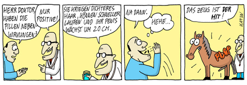 Cartoon: Dr. Aberwitz Nr1. Nebenwirkungen (medium) by KAYSN tagged medizin,pillen,medikamente,arzt,comic