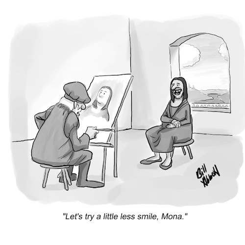 Cartoon: Mona Lisa (medium) by Billcartoons tagged mona,lisa,davinci,paintings,painters,renaissance,art,classics