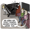 Cartoon: U-Bahn (small) by Hannes Richert tagged bahn,musikant,musik,kleingeld,klavier,berlin