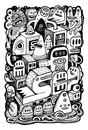 Cartoon: Arche (small) by exit man tagged ink,bw,paper,alesko,exitman,monster