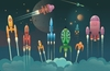 Cartoon: Big departure (small) by exit man tagged space,star,cosmos,fly,rocket,exitman