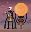 Cartoon: Moon catcher brothers (small) by exit man tagged moon,catcher,brothers,monster,strange,surrealist