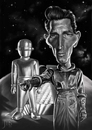 Cartoon: Klaatu (small) by JMSartworks tagged caricature actors filmmakers hollywood paintool sai painter