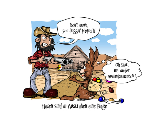 Frohe ostern von toeby medien kultur cartoon toonpool - Lustige bilder zu ostern ...