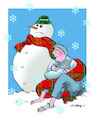 Cartoon: duro invierno (small) by adancartoons tagged adan