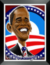 Cartoon: Obama Caricature (small) by domarn tagged barack obama caricature cartoon political