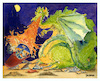 Cartoon: Dragon Battle (small) by dbaldinger tagged fantasy,dragon,knight