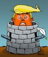Cartoon: Fortress Trump (small) by dbaldinger tagged trump usa war peace diplomacy