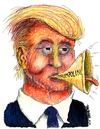 Cartoon: Trumpolini (small) by dbaldinger tagged trump,usa,republican,presidential,primary