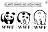 Cartoon: Climate change logo (small) by sinann tagged climate,change,world,wildlife,fund,wwf,logo