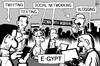 Cartoon: Egypt online protesters (small) by sinann tagged egypt,online,tech,protesters