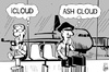 Cartoon: ICloud and ash cloud (small) by sinann tagged icloud,ash,cloud