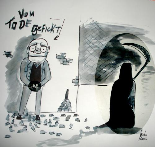 Cartoon: Vom Tod gefickt (medium) by Björn Krause tagged alkohol,