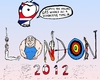 Cartoon: A very G4S 2012 Olympics Wish (small) by laughzilla tagged olympic,olympics,2012,games,g4s,caricature,editorial,cartoon,satire,parody,laughzilla,thedailydose,sports,athletics,greeting