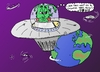 Cartoon: Colonize Earth editorial cartoon (small) by laughzilla tagged colonize,earth,cartoon,alien,extraterrestrial,invader,colonial,editorial,political,comid,satire