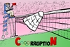 Cartoon: CorruptioN at the Olympic Games (small) by laughzilla tagged china,indonesia,korea,badminton,london,olympic,olympics,2012,games,caricature,editorial,cartoon,satire,parody,laughzilla,thedailydose,sports,corruption,corrupt