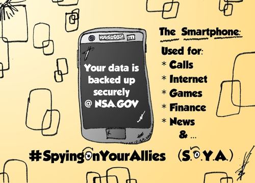 Cartoon: Your Smartphone Backup at NSA (medium) by BinaryOptions tagged nsa,national,security,agency,spying,espionage,surveillance,smartphone,data,backup,caricature,webcomic,cartoon,comic,binary,option,options,trade,trading,optionsclick,political,editorial,news,satire