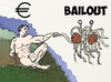 Cartoon: FSM Euro Bailout caricature (small) by BinaryOptions tagged binary,options,trading,option,trader,cariacture,editorial,cartoon,financial,comic,business,satire,parody,painting,euro,bailout,news