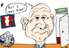 Cartoon: Microsoft CEO Ballmer Exit (small) by BinaryOptions tagged optionsclick,binary,options,option,trade,trader,trading,financial,finance,microsoft,msft,ballmer,ceo,quit,retire,retiring,exit,editorial,news,technology,tech,software,service,industry