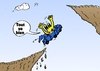 Cartoon: Tout Va Bien avec Euroman (small) by BinaryOptions tagged options,binaires,option,binaire,optionsclick,caricature,comique,webcomic,finances,euro,europ,eur,monnaie,falaise,hausse,trading,trader