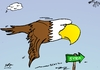Cartoon: US Bald Eagle on way to Syria (small) by BinaryOptions tagged syria,wmd,bald,eagle,usa,economic,bird,power,investor,trading,binary,option,options,trade,investment,finances,money,optionsclick,editorial,cartoon,caricature,political,business,news