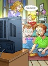 Cartoon: Fernseh Spiel (small) by wambolt tagged cartoon,humor,kids,tv