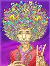 Cartoon: Jimi Hendrix (small) by wambolt tagged caricature,rock,music,stars,guitar,legend