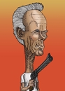 Cartoon: Clint Eastwood (small) by Berge tagged american,actor,director,caricature