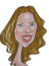 Cartoon: Scarlet Johansson pastel (small) by Berge tagged sacarlet,johansson,pastel,colour,caricature