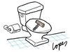 Cartoon: Constipation (small) by Lopes tagged constipation,toilet,corkscrew,opener