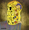 Cartoon: KiSS (small) by gamez tagged klimt,sklint,kiss,bizou