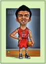 Cartoon: ZaZa Pachulia (small) by gamez tagged nba,basketball,gamez,zaza,pachulia,atlanta,hawks,ball,georgia,team,forward