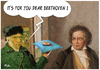 Cartoon: It is for you dear Beethoven (small) by Ridha Ridha tagged it,is,for,you,dear,beethoven,cartoon,by,ridha